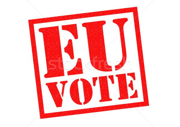 Ue votación rojo blanco negocios Foto stock © chrisdorney