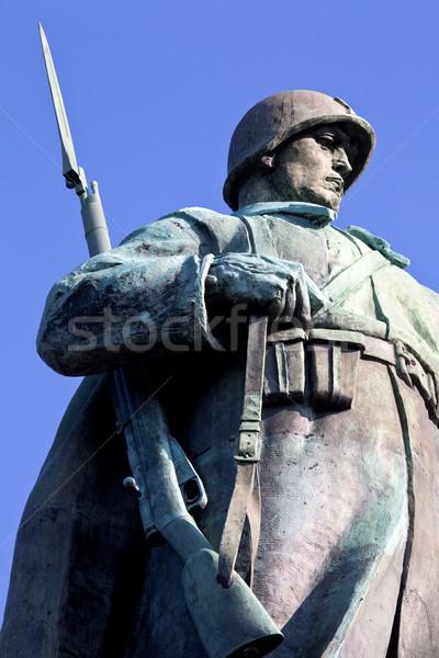Foto stock: Soviético · guerra · Berlín · viaje · soldado · tanque