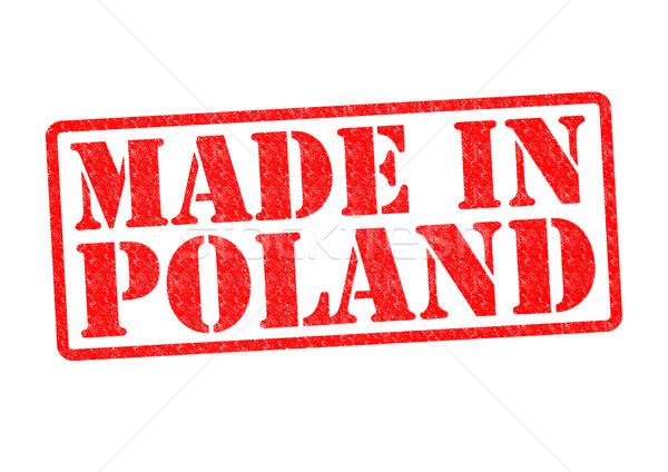 Polônia branco vermelho construir borracha Foto stock © chrisdorney