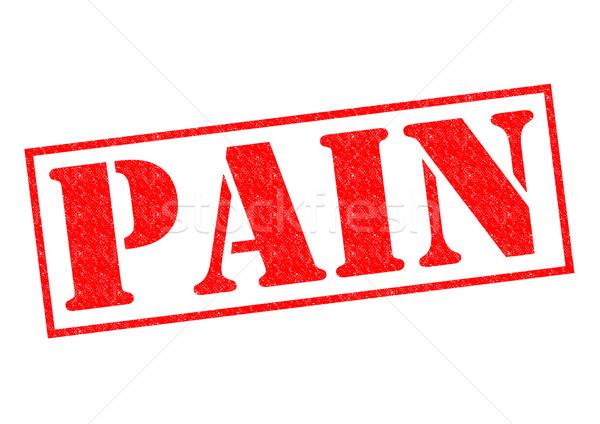 Fájdalom pecsét piros fehér egészség kórház Stock fotó © chrisdorney