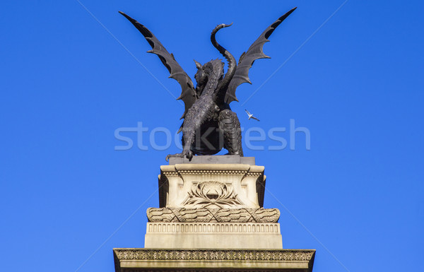 Dragon statua tempio bar Londra Foto d'archivio © chrisdorney