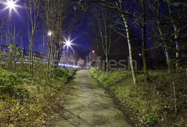 Eerie Urban Footpath Stock photo © chrisdorney