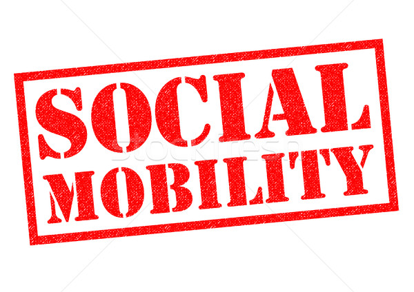 Społecznej ruchliwość czerwony biały pracy Zdjęcia stock © chrisdorney