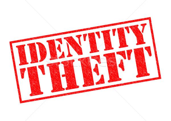 Személyazonosság-lopás piros pecsét fehér számítógép technológia Stock fotó © chrisdorney