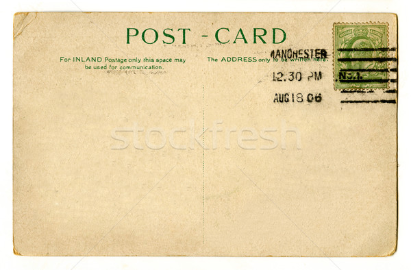 Foto stock: Vintage · postal · viaje · escrito · carta · comunicación
