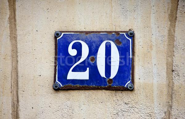 Numara 20 kaba duvar Stok fotoğraf © chrisdorney