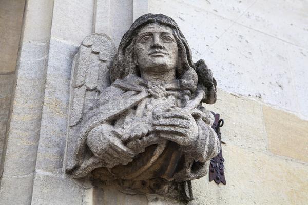 Kolej heykel oxford dış İngiltere mimari Stok fotoğraf © chrisdorney