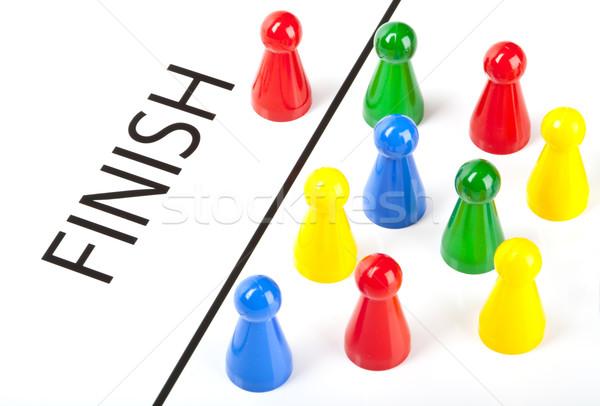 Első célszalag üzlet verseny nyertes győzelem Stock fotó © chrisdorney