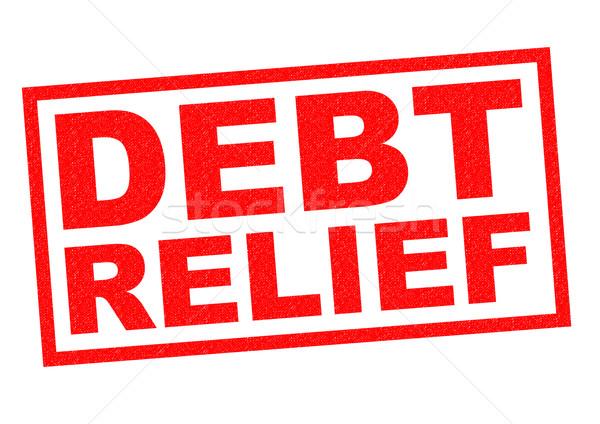 Adósság megkönnyebbülés piros pecsét fehér üzlet Stock fotó © chrisdorney