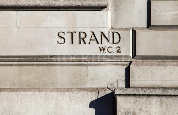 Strand in London Stock photo © chrisdorney