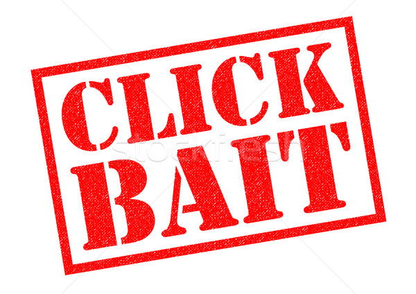CLICK BAIT Rubber Stamp Stock photo © chrisdorney