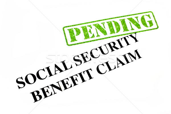 Social Security Benefit Claim PENDING Stock photo © chrisdorney