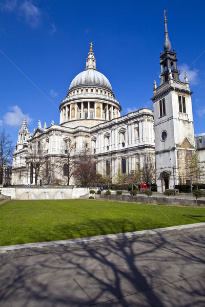 St. Paul's Cathedral and the Tower of St. Augustine Church in Lo Stock photo © chrisdorney