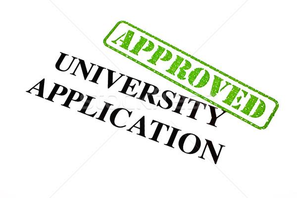 University Application APPROVED Stock photo © chrisdorney
