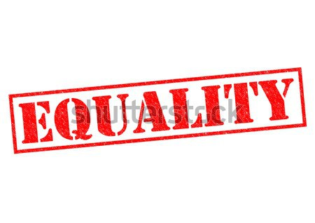 Egyenlőség piros pecsét fehér szabadság verseny Stock fotó © chrisdorney