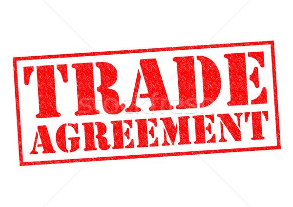 Commercio accordo rosso bianco business Foto d'archivio © chrisdorney