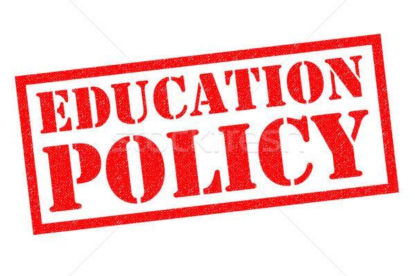 Oktatás irányvonal pecsét piros fehér iskola Stock fotó © chrisdorney