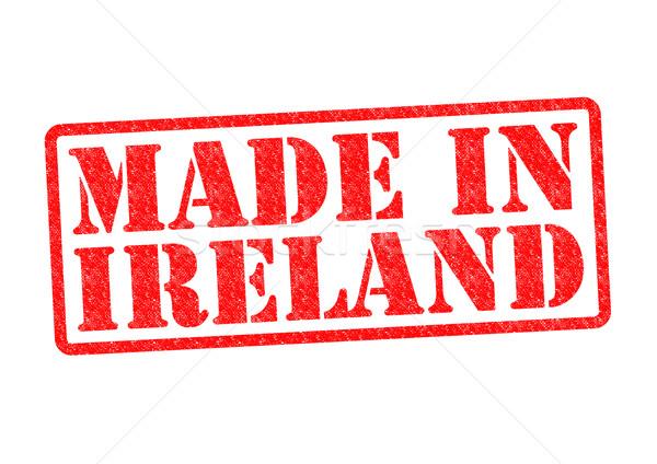 Irlanda branco vermelho irlandês construir Foto stock © chrisdorney