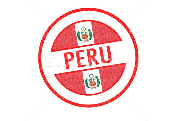PERU Rubber Stamp Stock photo © chrisdorney