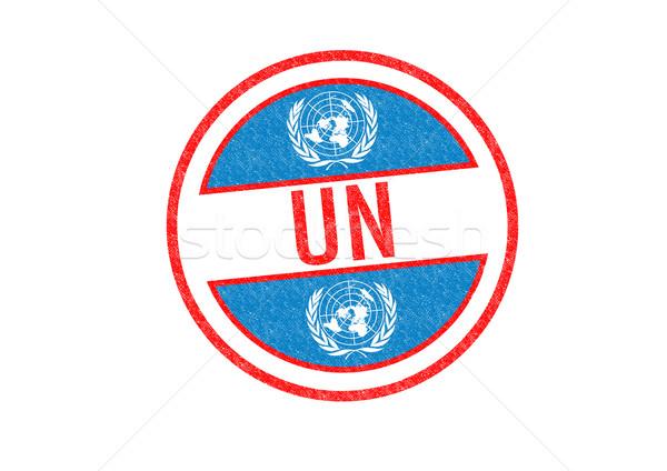 国連 スタンプ 白 市 旅行 ストックフォト © chrisdorney
