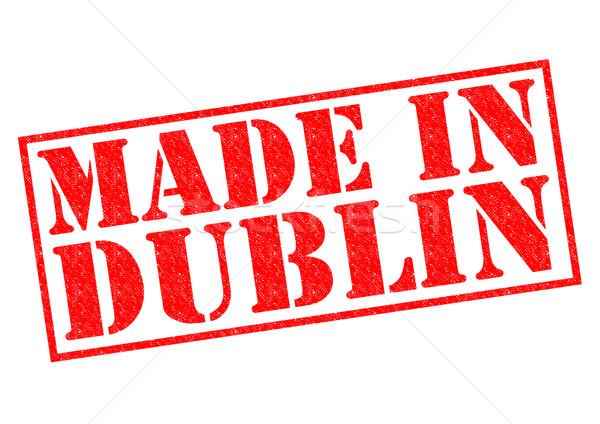 Dublin piros pecsét fehér épít címke Stock fotó © chrisdorney