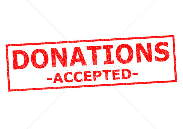 DONATIONS ACCEPTED Stock photo © chrisdorney