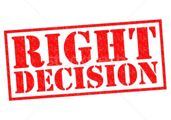 RIGHT DECISION Stock photo © chrisdorney