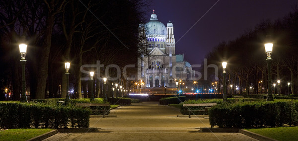 View of the Basilica of the Sacred Heart in Brussels Stock photo © chrisdorney