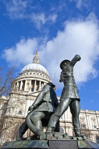 Bombeiros Londres cidade guerra viajar inglaterra Foto stock © chrisdorney