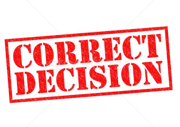 Correggere decisione rosso gomma futuro chiamata Foto d'archivio © chrisdorney