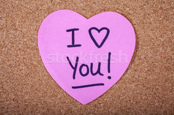 I Love You Message Stock photo © chrisdorney