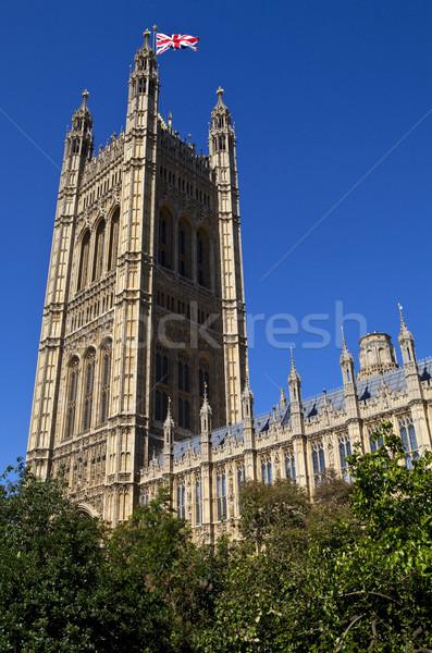 Foto stock: Torre · casas · parlamento · união · bandeira · Londres