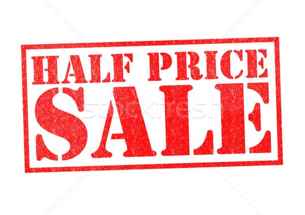 HALF PRICE SALE Stock photo © chrisdorney