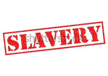 Rabszolgaság piros pecsét fehér törvény címke Stock fotó © chrisdorney