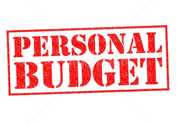 личные бюджет красный белый бизнеса Сток-фото © chrisdorney