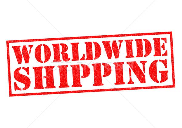 światowy wysyłki czerwony biały morza Zdjęcia stock © chrisdorney