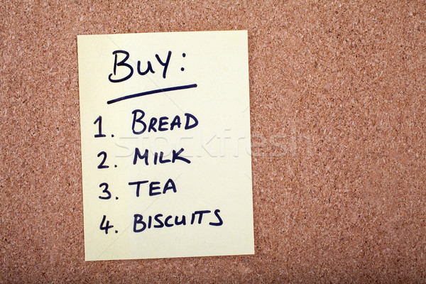 Shopping List Stock photo © chrisdorney