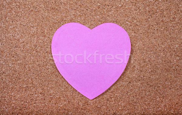 Coração memorando papel forma escritório Foto stock © chrisdorney