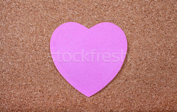 Heart Memo Paper on a Noticeboard Stock photo © chrisdorney