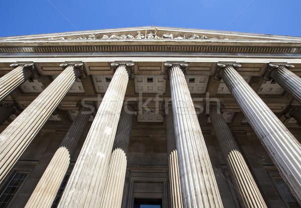Brit múzeum London fenséges külső épület Stock fotó © chrisdorney