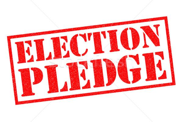 Wyborów czerwony biały przycisk tag Zdjęcia stock © chrisdorney