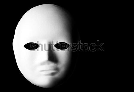 Bianco maschera nero occhi arte teatro Foto d'archivio © chrisdorney