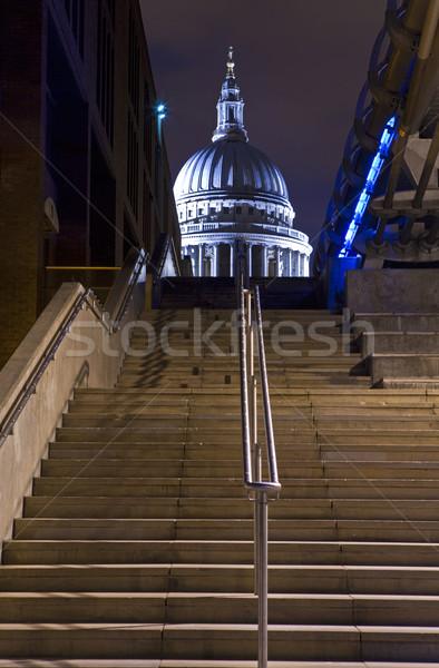 мнение собора Темза пути Лондон ночь Сток-фото © chrisdorney
