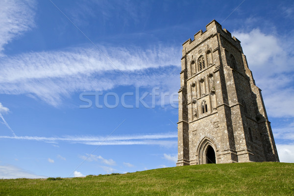 Historisch land toren godsdienst zonneschijn Engeland Stockfoto © chrisdorney