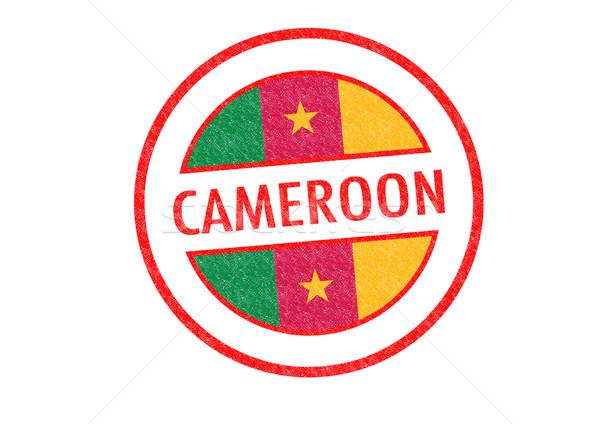 Camarões branco férias botão passaporte Foto stock © chrisdorney