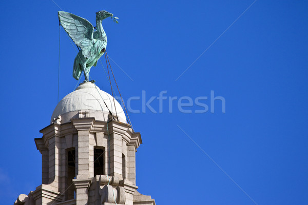 Liver Bird Perched on the Royal Liver Building Stock photo © chrisdorney