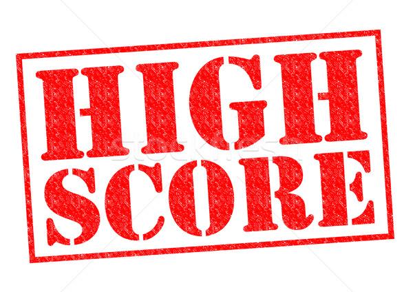 Hoog partituur Rood witte succes Stockfoto © chrisdorney