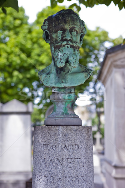 Grave cemitério pintor Paris cidade Foto stock © chrisdorney