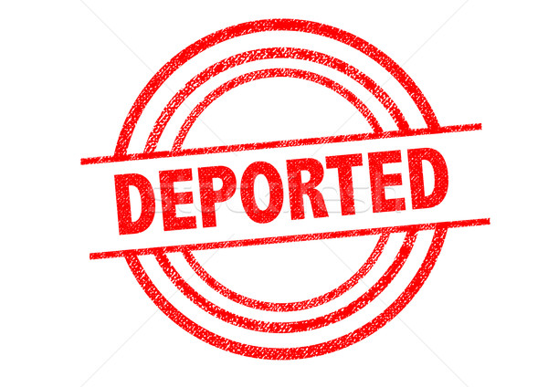 Stock photo: DEPORTED Rubber Stamp