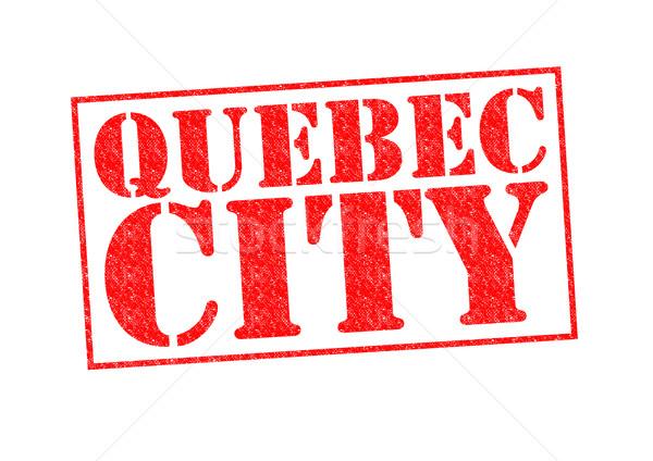 Stok fotoğraf: Quebec · şehir · beyaz · tatil · düğme